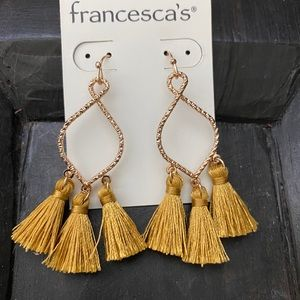 NWT Francesca's Tassel Earrings
